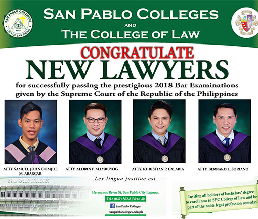 Congratulate New Lawyers