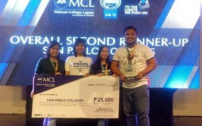 San Pablo Colleges emerged MCL Cup – Over all 2nd Runner up. Out of 105 schools.