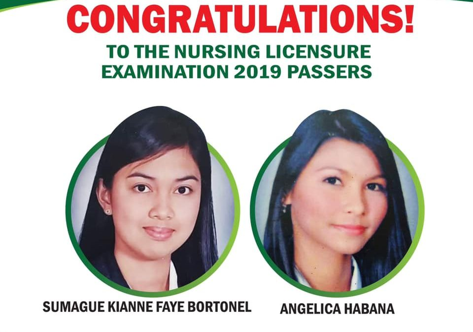 San Pablo Colleges would like to congratulate the Nursing Licensure Examination passers.