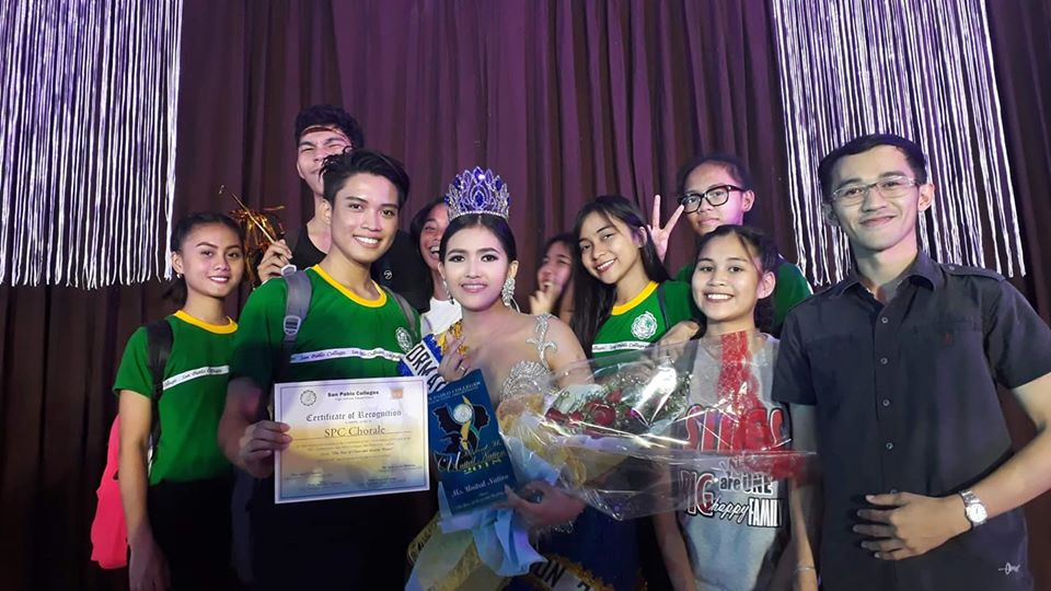 On behalf of San Pablo Colleges Chorale, we would like to congratulate our very own Alto member, Ms. Natasha Verallo, for having the title of Ms. United Nation 2018.