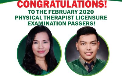 Congratulations to our new Physical Therapist Licensure Exam Passers!