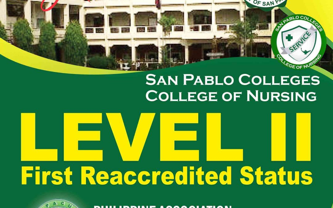 SPC College of Nursing Level II First Reaccreditted Status