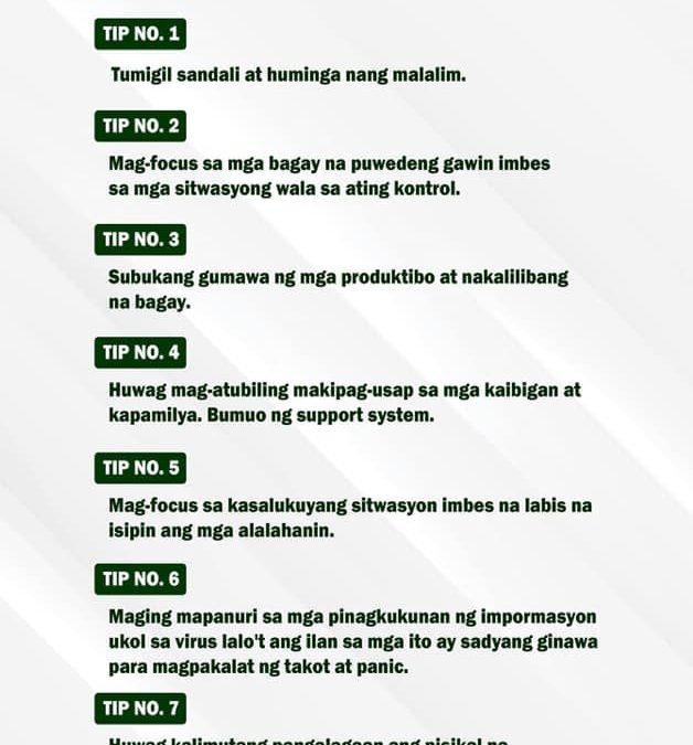 Ngayong ipinapatupad ang Enhance Community Quarantine dahil sa COVID-19 pandemic, narito ang ilang tips mula sa ABS-CBN News para pangalagaan ang mental health. Like and share, #SanPabloColleges community!