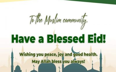 Eid Mubarak to our Muslim brothers and sisters!