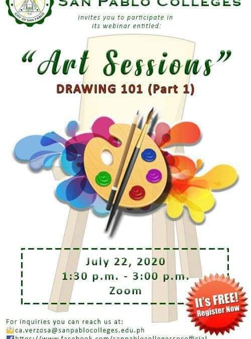 Take the first step to be an artist with San Pablo Colleges Art Sessions.