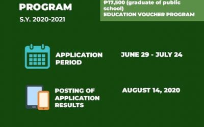 Incoming grade 11 students are invited to apply for Senior High School voucher program.