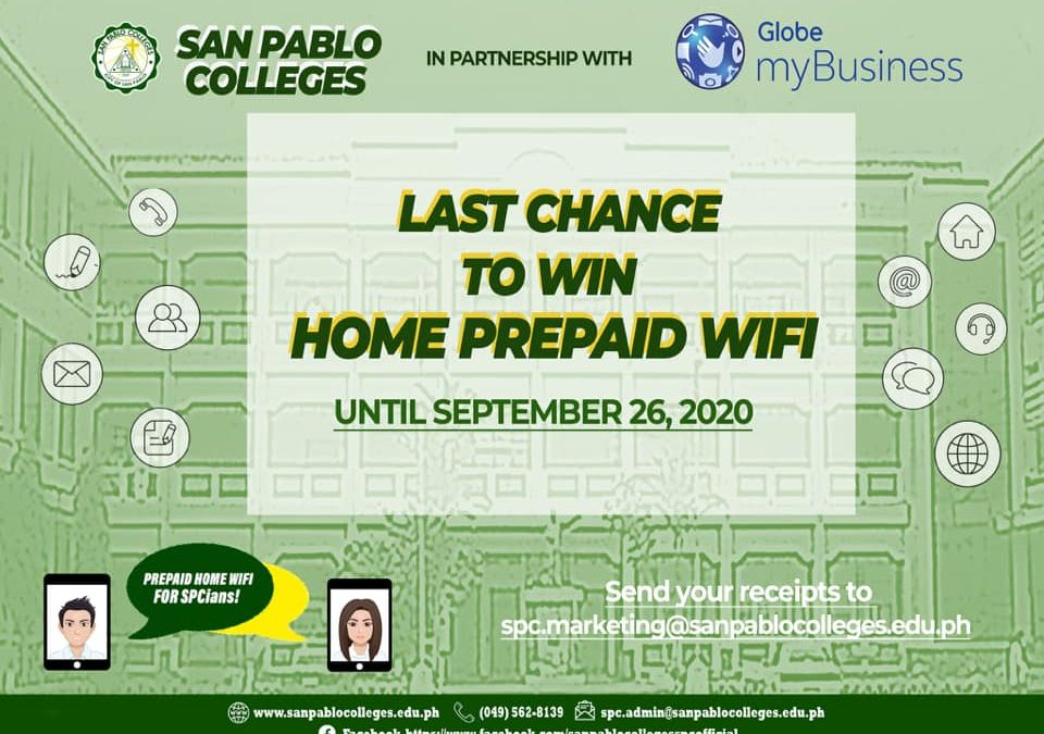 Here's your last chance to receive a FREE PREPAID POCKET WIFI!