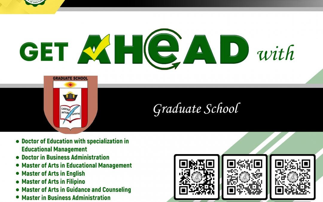Aim higher and level up with San Pablo Colleges Graduate Studies.
