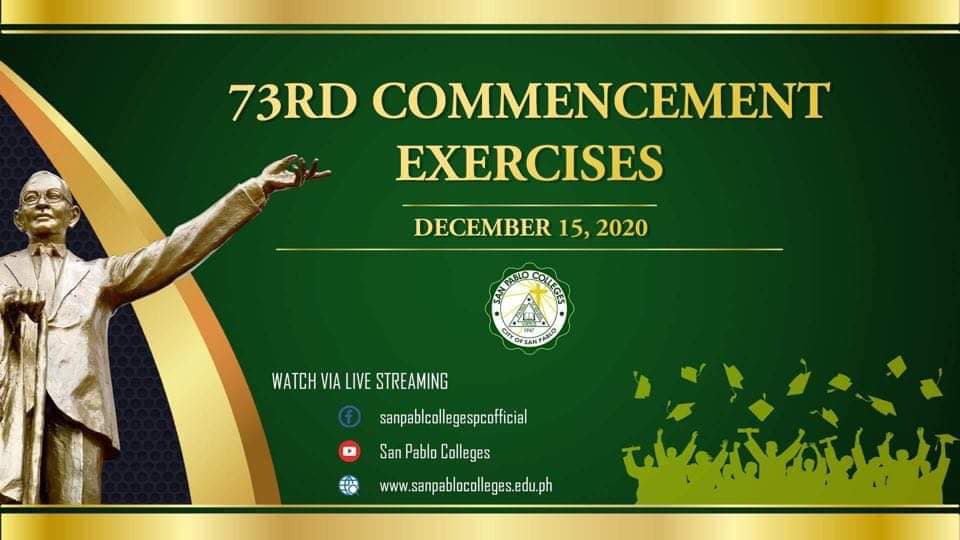 73rd Commencement Exercises for the Academic Year 2019-2020