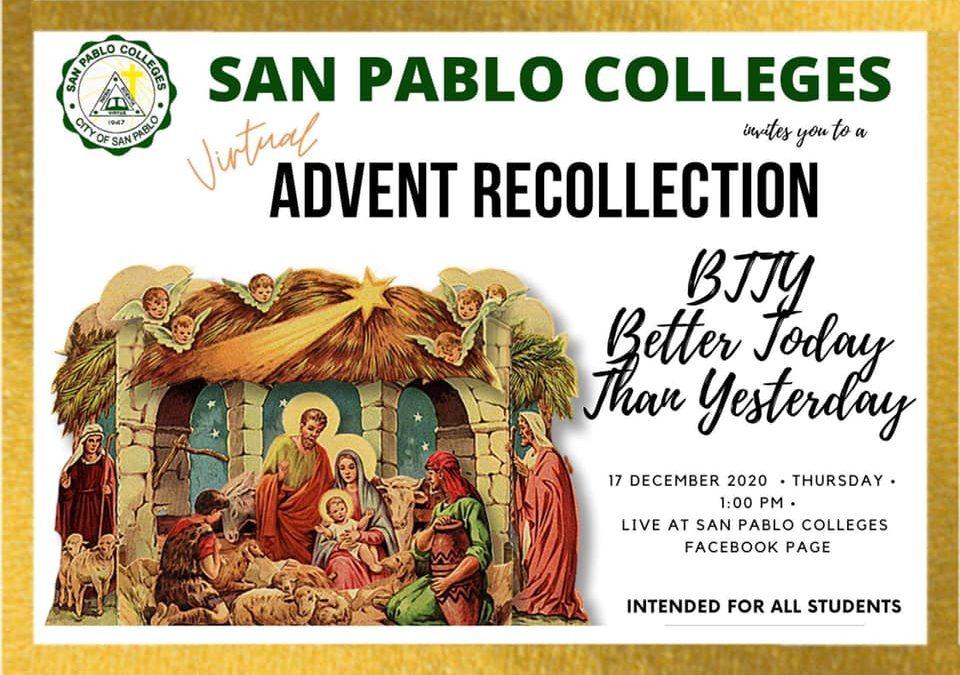 Virtual Advent Recollection