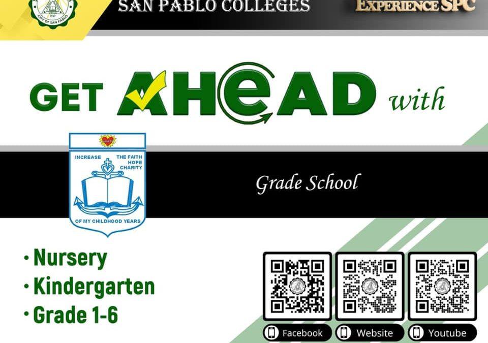 San Pablo Colleges Grade School department.